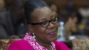 Catherine Samba-Panza à l'Assemblée nationale, à Bangui, après son élection à la présidence de la transition en RCA, le 20 janvier 2014.