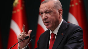 Recep Tayyip Erdogan, le 3 novembre 2020, à Ankara.
