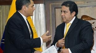 Ministre Interieur Equateur démission Patricio Pazmiño