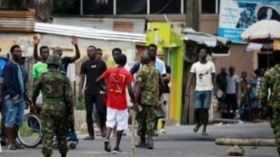 Wani yanki na jihar Lagos a Najeriya bayan lafawar rikicin da ya biyo bayan zanga-zangar ENDSARS.