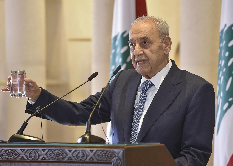 El presidente del Parlamento libanés, Nabih Berri, el 1 de octubre de 2020 en Beirut