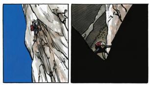 Extrait d'une planche tirée de la bande dessinée «Ailefroide, altitude 3954», de Jean-Marc Rochette.