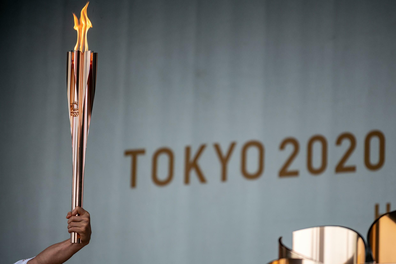 L'arrivée de la flamme olympique à Tokyo le 9 juillet 2021