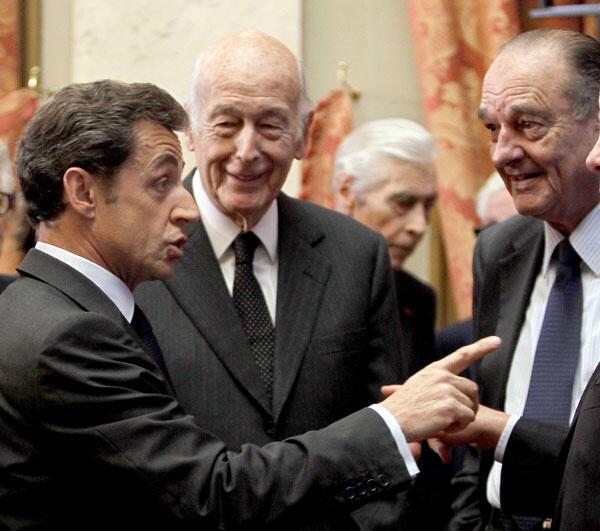 Сейчас на содержании у французского бюджета находятся три экс-президента. Слева направо: Саркози, д'Эстен, Ширак.