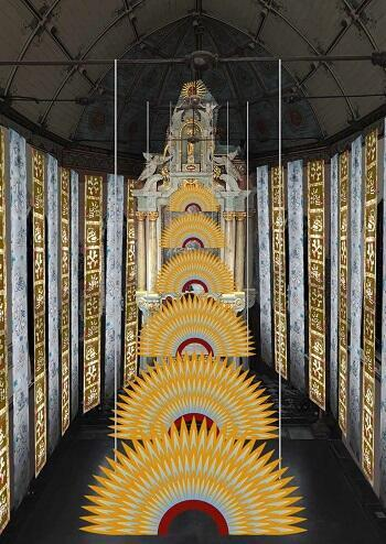 Instalación de Betsabeé Romero en la  Maison Folie Hospice d'Havré, Tourcoing, Francia. Exposición del 24 de abril al 26 de julio de 2019