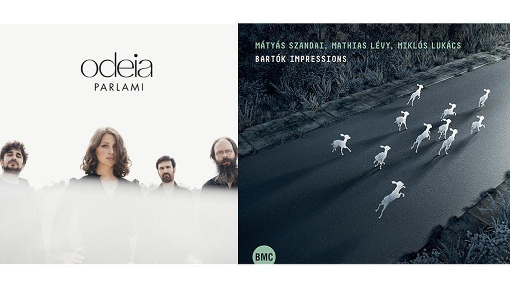 Odeia Cd Parlami (photo Sylvain Gripoix) et Mathias Levy Cd Bartok Impressions (BMC Rd).