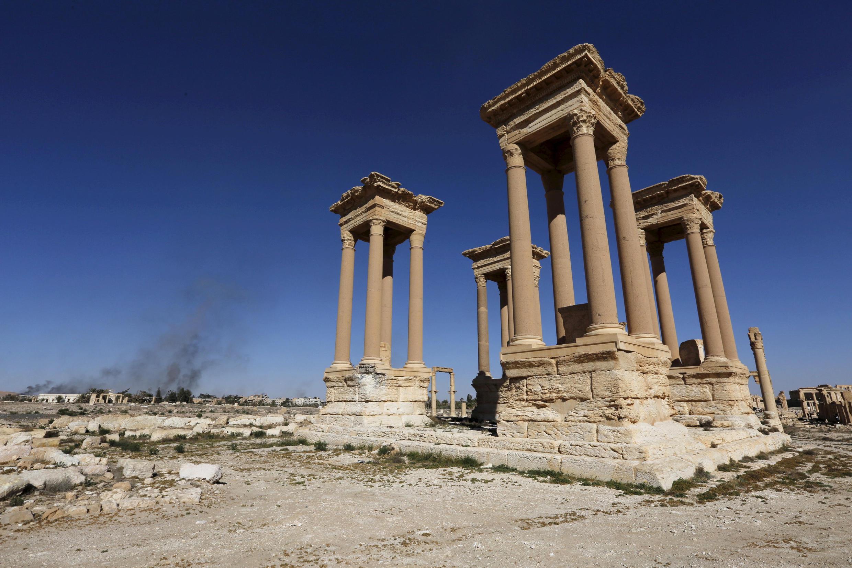 La cité antique de Palmyre, récemment reprise par le groupe EI, est un enjeu stratégique pour la Syrie et son allié russe.