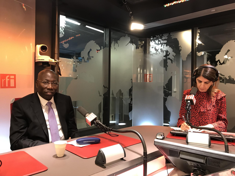 Domingos Simões Pereira nos estúdios da RFI a 29 de Outubro de 2018.