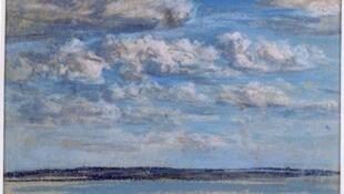 « Nuages blancs, ciel bleu » d'Eugène Boudin (vers 1854-1859).