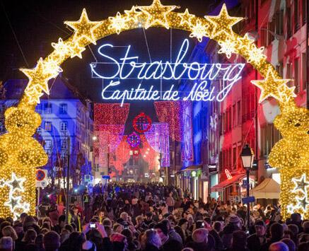 Le marché de Strasbourg, dans l'est de la France.