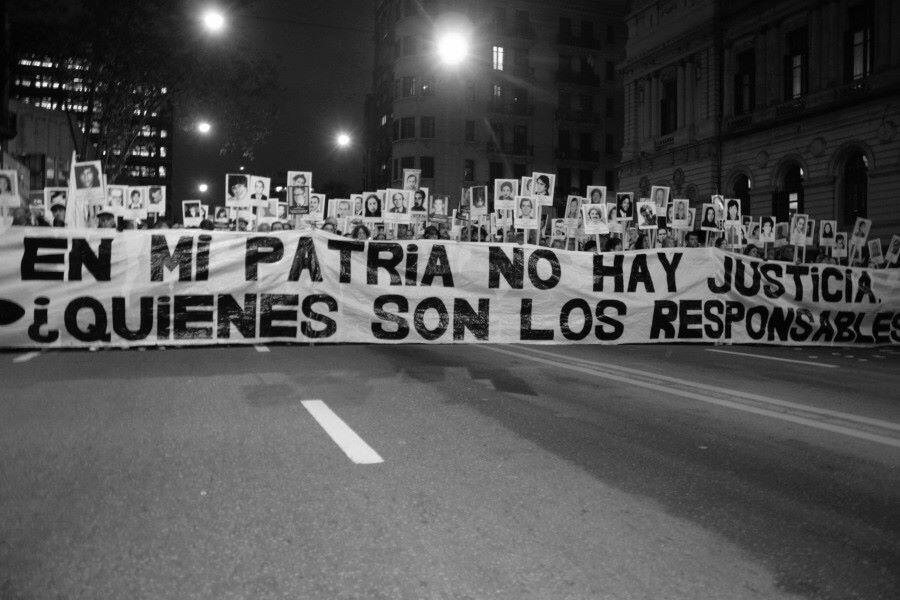 'En mi patria no hay justicia, ¿quiénes son los responsables?', 18° Marcha del Silencio en Montevideo, el pasado 20 de mayo.