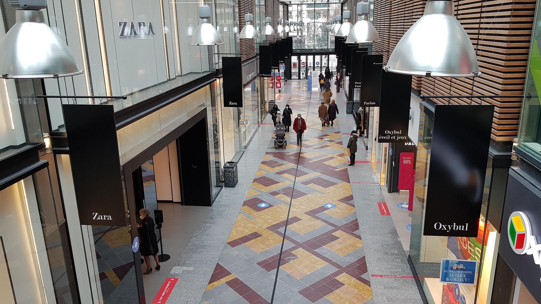 Dans le grand centre commercial Les Passages, à Boulogne-Billancourt, le 20 janvier 2021.