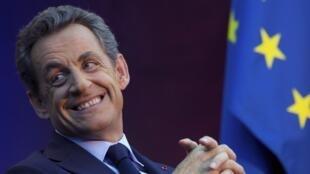 Cựu Tổng thống Pháp Nicolas Sarkozy đắc cử chủ tịch đảng UMP, ngày 29/11/2014.