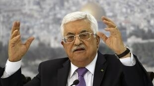 Palestinian President Mahmoud Abbas, 29 April 2014.