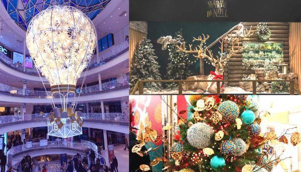 Trang trí ở cửa hàng Beaugrenelle và chợ Noel tại BHV Marais