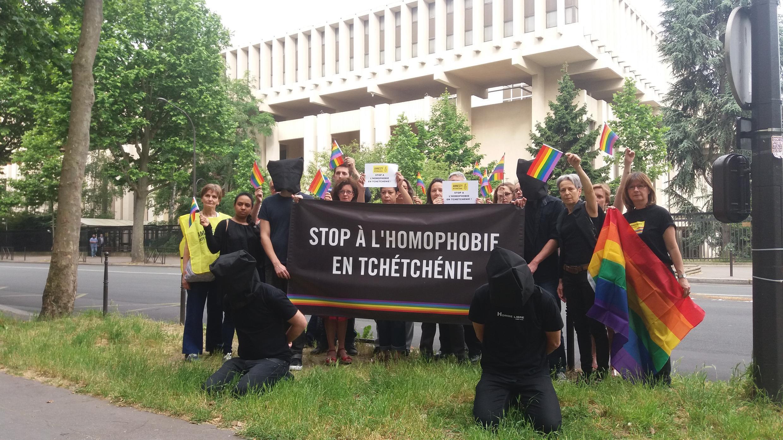 Акция Amnesty International у посольства России в Париже, 2 июня 2017 г.