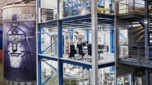 XENON1T, dispositif de détection de la matière noire à Gran Sasso en Italie.