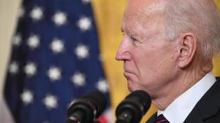 El presidente de Estados Unidos, Joe Biden,en la Sala Este de la Casa Blanca en Washington, DC, el 23 de febrero de 2021