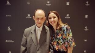 Cristele Alves Meira, realizadora luso-francesa, e o seu actor Duarte Pina em Cannes a 20 de Maio de 2019.