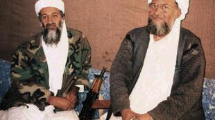 Osama bin Laden e Ayman al-Zawahiri, novo líder da Al Qaeda.
