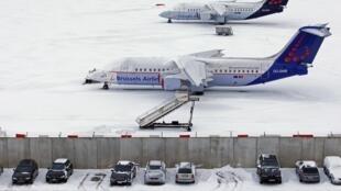 L'aéroport national de Bruxelles n'a pas échappé à la vague de froid, le 20 décembre 2009.