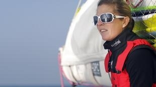 Samantha Davies on board Saveol