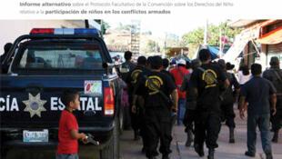 El Comité de los derechos del niño de Naciones Unidas emitió un dictamen en donde le exige al gobierno de México detalles sobre la situación del uso de niños por grupos armados.
