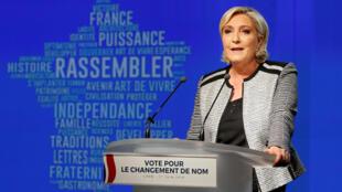Marine Le Pen à Lyon, le 1er juin 2018.