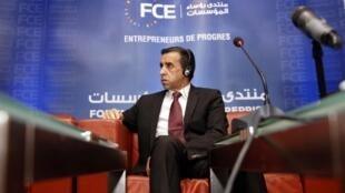 Ali Haddad, ancien président du FCE, l'organisation patronale algérienne, en 2015.
