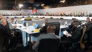 Les délégués de 54 pays africains au troisième sommet Inde-Afrique à New-Dehli, ce lundi 26 octobre 2015.