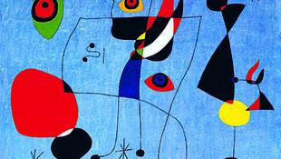"""Жоан Миро, """"Женщины и птицы в ночь на 5 мая 1947г""""."""