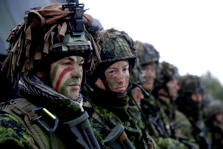Lính NATO tập trận ở Litva. Ảnh ngày 2/12/2016.