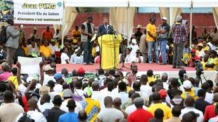 Meeting à Libreville de l'opposant gabonais Jean Ping (image d'illustration).