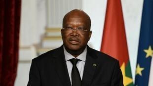 Le président du Burkina Faso Roch Marc Christian Kaboré au Medef, une étape économique de sa visite officielle en France.