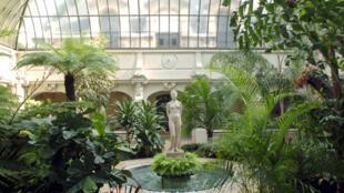坐落在巴黎盧森堡公園中的法國參議院建築內的冬季花園