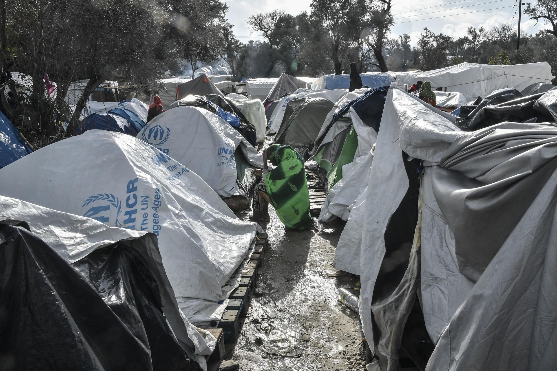 Le camp de Vial, sur l'île de Chios, accueille près de 5000 migrants pour une capacité de 1000 personnes.
