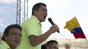 Le président Rafael Correa, à Quito, le 10 novembre 2012.
