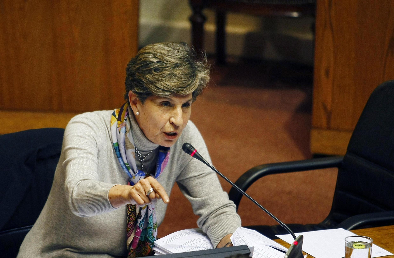 Isabel Allende, la fille de l'ancien président chilien Salvador Allende, lors d'une session au Congrès chilien à Valparaiso, le 19 mai 2011.