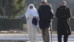 Members of Strasbourg's Muslim community