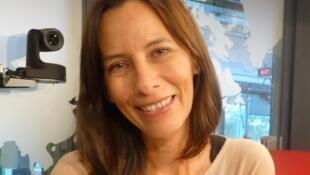Rosaura Rodriguez en los estudios de RFI
