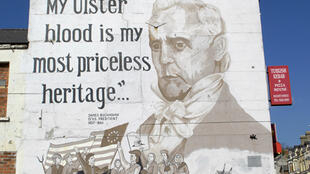 Un mural dans le quartier protestant de Shankill, à Belfast.