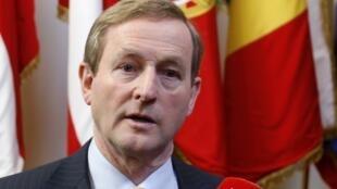 Le Premier ministre irlandais Enda Kenny, à Bruxelles, le 14 décembre 2012.