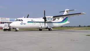 Bien qu'étant un peu plus lents que les jets , l'ATR permet des liaisons plus économiques. Ici, un ATR 42.