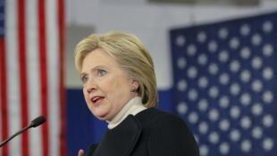 La candidate démocrate Hillary Clinton, le 9 février 2016 à Manchester dans le New Hampshire.