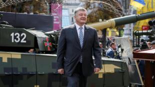 Президент Украины Петр Порошенко на праздновании Дня независимости в 2017 году