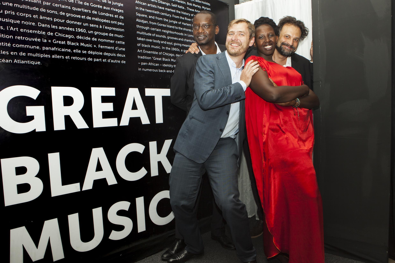 A Kigali pour l'ouverture de Great Black Music, Dorcy Rugamba à gauche et Marc Benaïche à droite.