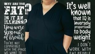 A escritora Gabrielle Deydier é notícia na imprensa mundial com seu livro que denuncia a gordofobia na França.