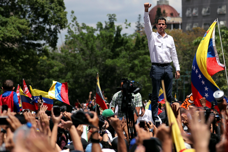 Venezuela : Tổng thống tự phong Juan Guaido trong cuộc biểu tình tại Caracas, ngày 9/03/2019.