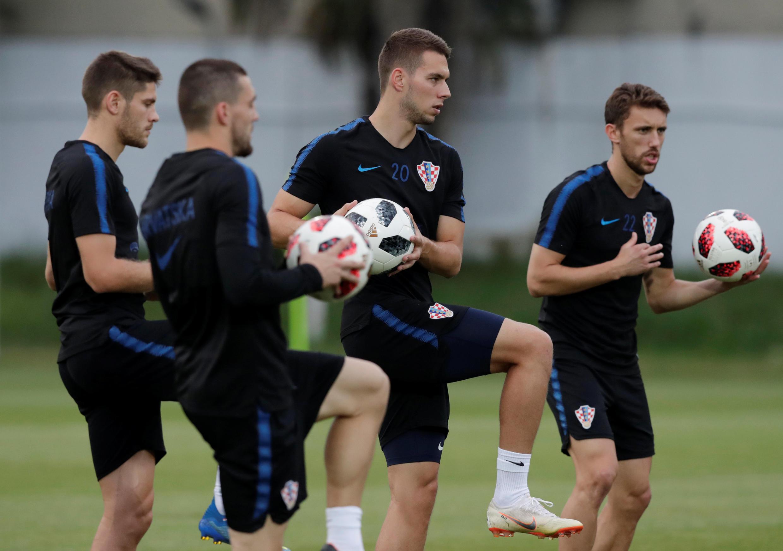 Các tuyển thủ Croatia tập luyện tại Sochi, Nga, ngày 05/07/2017.