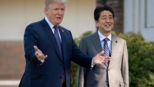 特朗普告知安倍  已和朝鲜高层直接对话 (2018年4月17日)